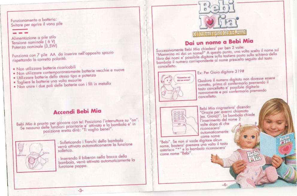 Bebi mia istruzioni codici pagina 3 4