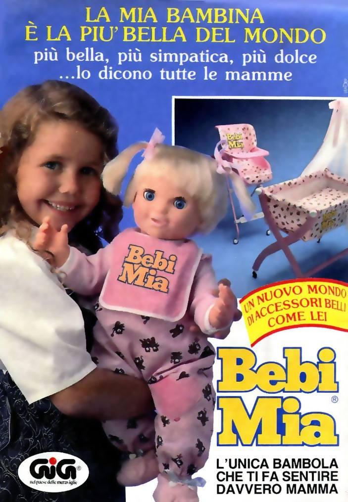 Bebi Mia Gig Pubblicità Topolino 1989