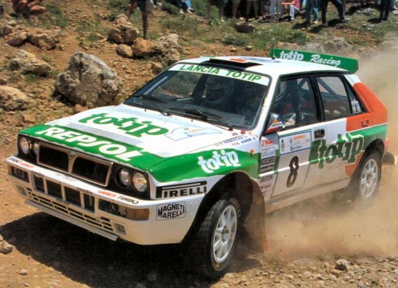 La Lancia Delta sponsorizzata dal TOTIP