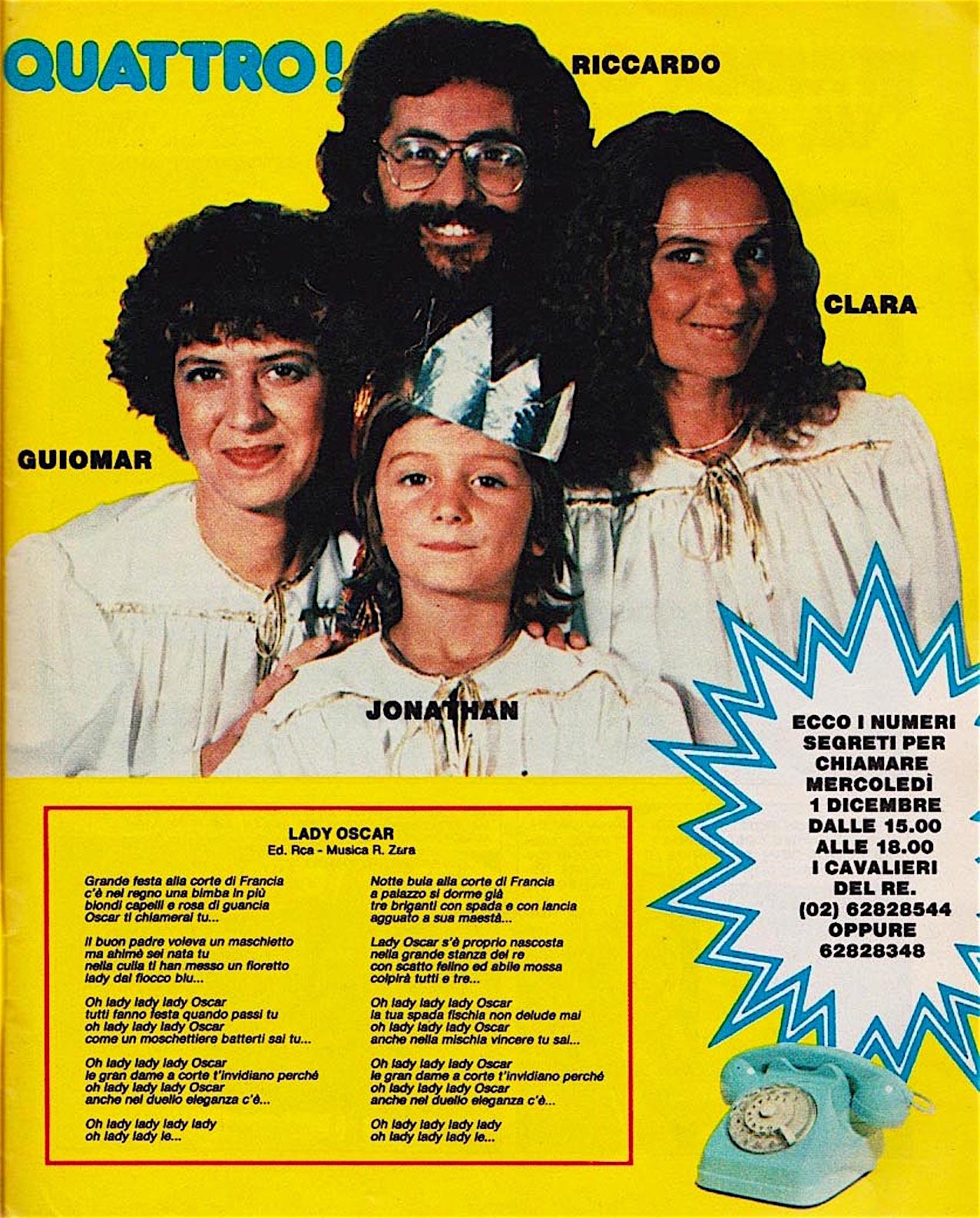 corriere-dei-piccoli-49-anno-1982-I-CAVALIERI-DEL-RE-lady-oscar