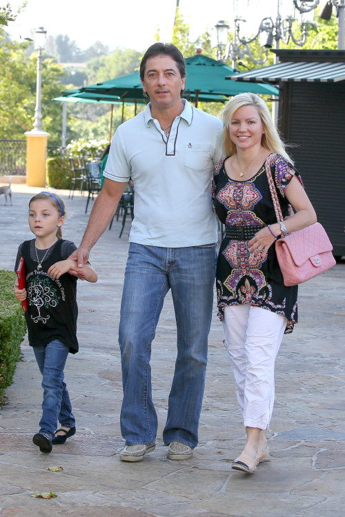 *EXCLUSIVE* Scott Baio in Calabasas with wife Renee and daughter Bailey