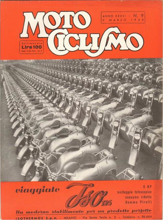 motociclismo copertina numero 9 1950