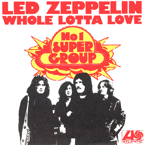 led zeppelin whole lotta love copertina album