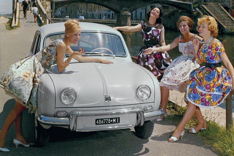renault dauphine brochure pubblicita