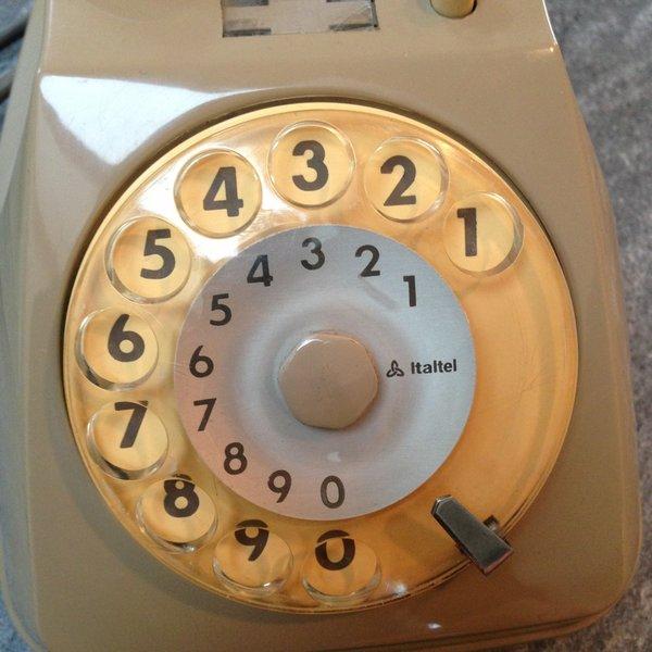 telefono bigrigio siemens italtel disco combinatorio