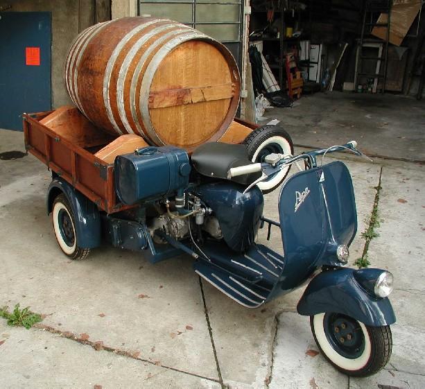 Ape A 125 cc bacchetta blu