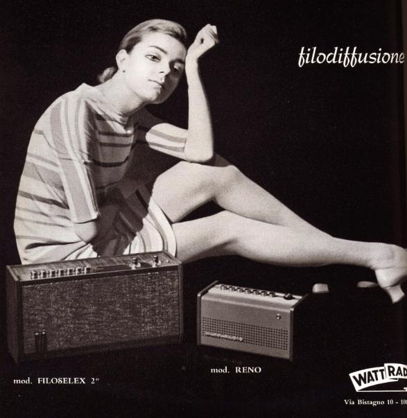 Filodiffusione pubblicità anni 60