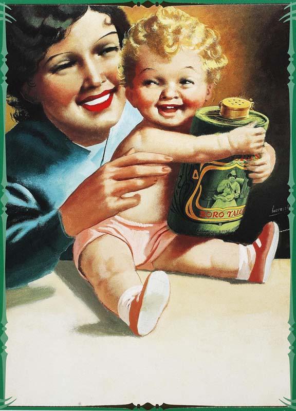 Madre-con-Bambino-Gino-Boccasile-anni-40-manetti-roberts-borotalco