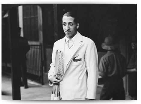 """René Lacoste e André Gillier fondarono la casa di abbigliamento in seguito  alla creazione del """"modello 1212"""" f5ceb4a6ae84d"""