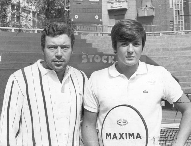 Anche Nicola Pietrangeli e Adiranao Panatta (a 18 anni) vestivano Lacoste