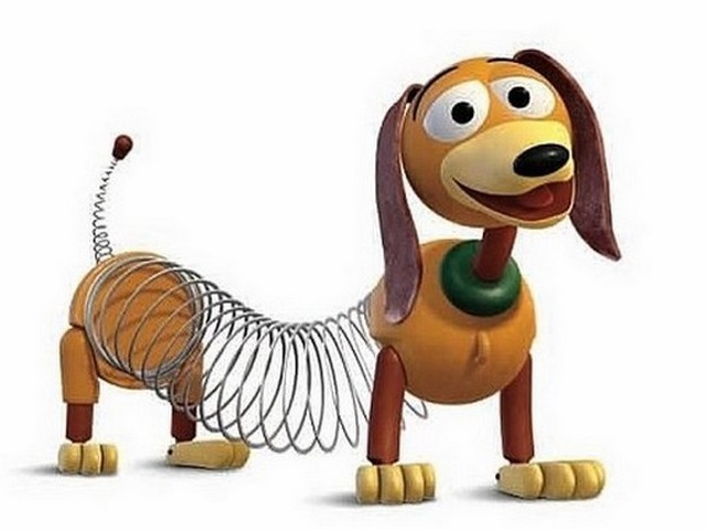 Slinky la molla intelligente giocattolo vintage curiosando