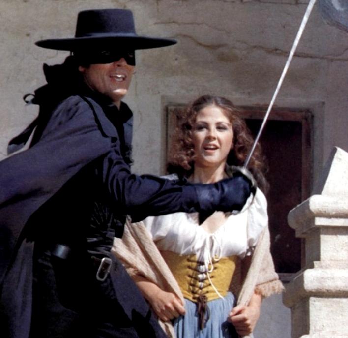 Ottavia Piccolo con Alain Delon in Zorro