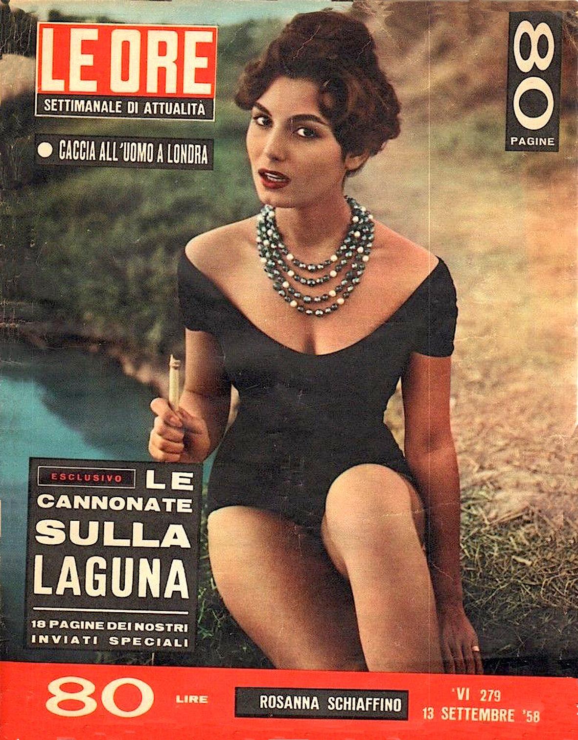 le ore copertina rosanna schiaffino 1958
