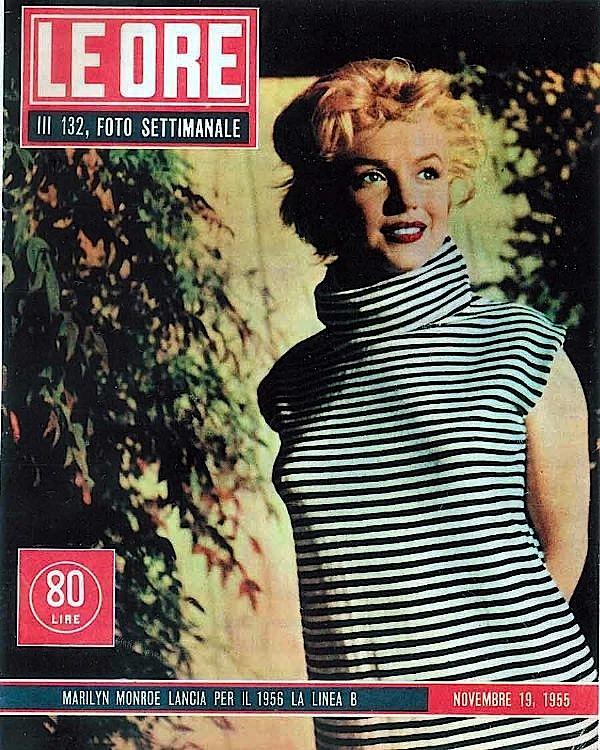 le_ore_rivista_copertina_marilyn_monroe_1953