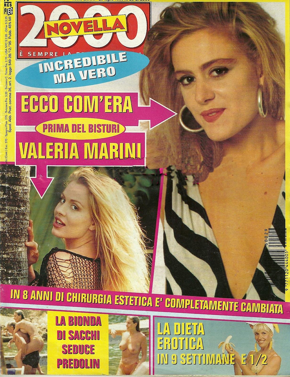 Primo Calendario Valeria Marini.Valeria Marini Come Era Da Giovane Qui Con Oltre 15