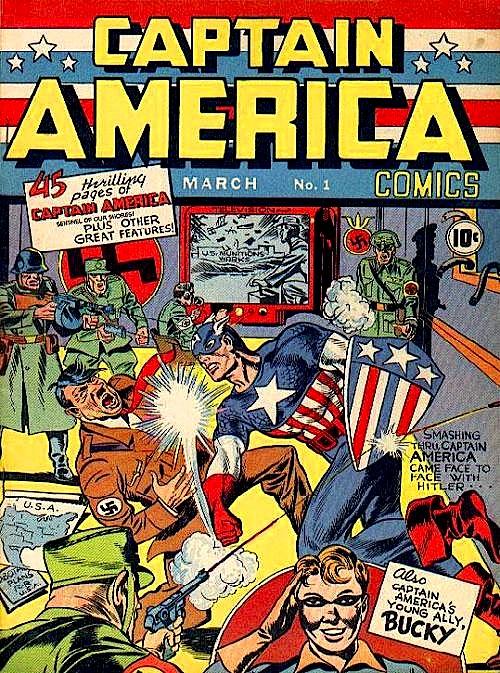 Captain-America-numero-1-Punching-Hitler