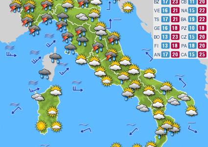 Previsioni del tempo e Oroscopo del giorno 01 GIUGNO