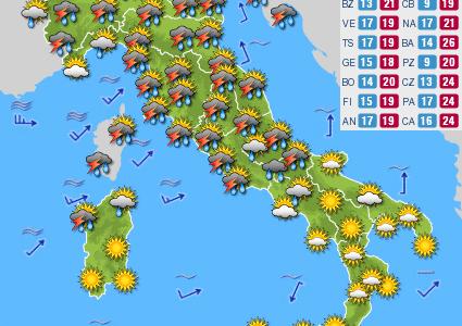 Previsioni del tempo e Oroscopo del giorno 02 GIUGNO