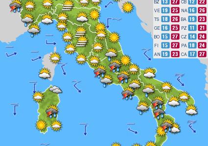 Previsioni del tempo e Oroscopo del giorno 07 GIUGNO