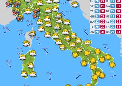 Previsioni del tempo e Oroscopo del giorno 23 LUGLIO