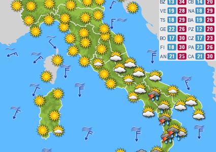 Previsioni del tempo e Oroscopo del giorno 23 AGOSTO