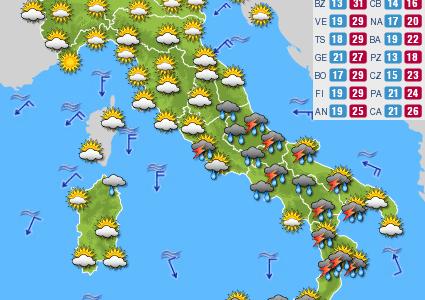 Previsioni del tempo e Oroscopo del giorno 07 SETTEMBRE