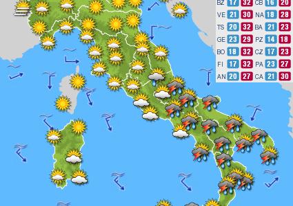 Previsioni del tempo e Oroscopo del giorno 09 SETTEMBRE