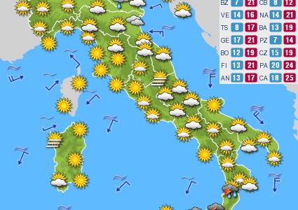 Previsioni del tempo e Oroscopo del giorno 05 OTTOBRE