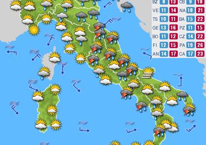 Previsioni del tempo e Oroscopo del giorno 10 OTTOBRE