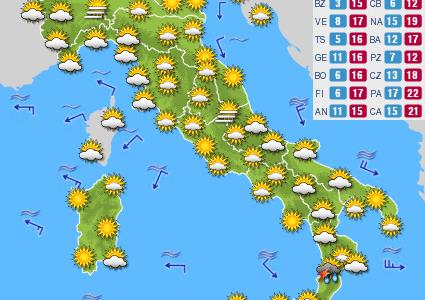 Previsioni del tempo e Oroscopo del giorno 12 OTTOBRE