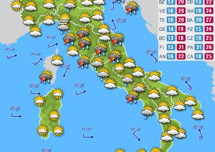Previsioni del tempo e Oroscopo del giorno 15 OTTOBRE