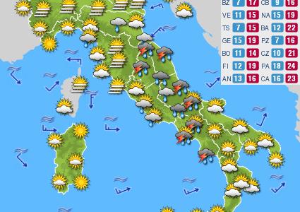 Previsioni del tempo e Oroscopo del giorno 03 NOVEMBRE
