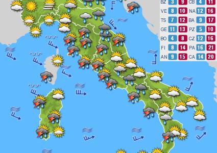 Previsioni del tempo e Oroscopo del giorno 11 NOVEMBRE