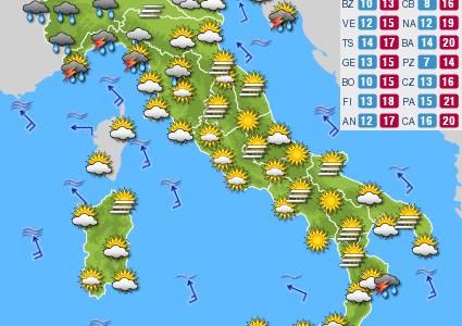 Previsioni del tempo e Oroscopo del giorno 21 NOVEMBRE