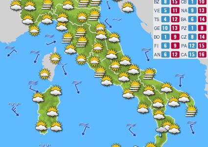 Previsioni del tempo e Oroscopo del giorno 25 DICEMBRE