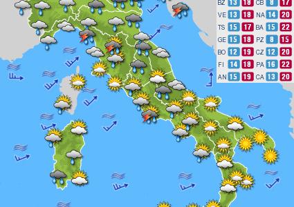 Previsioni del tempo e Oroscopo del giorno 13 MAGGIO