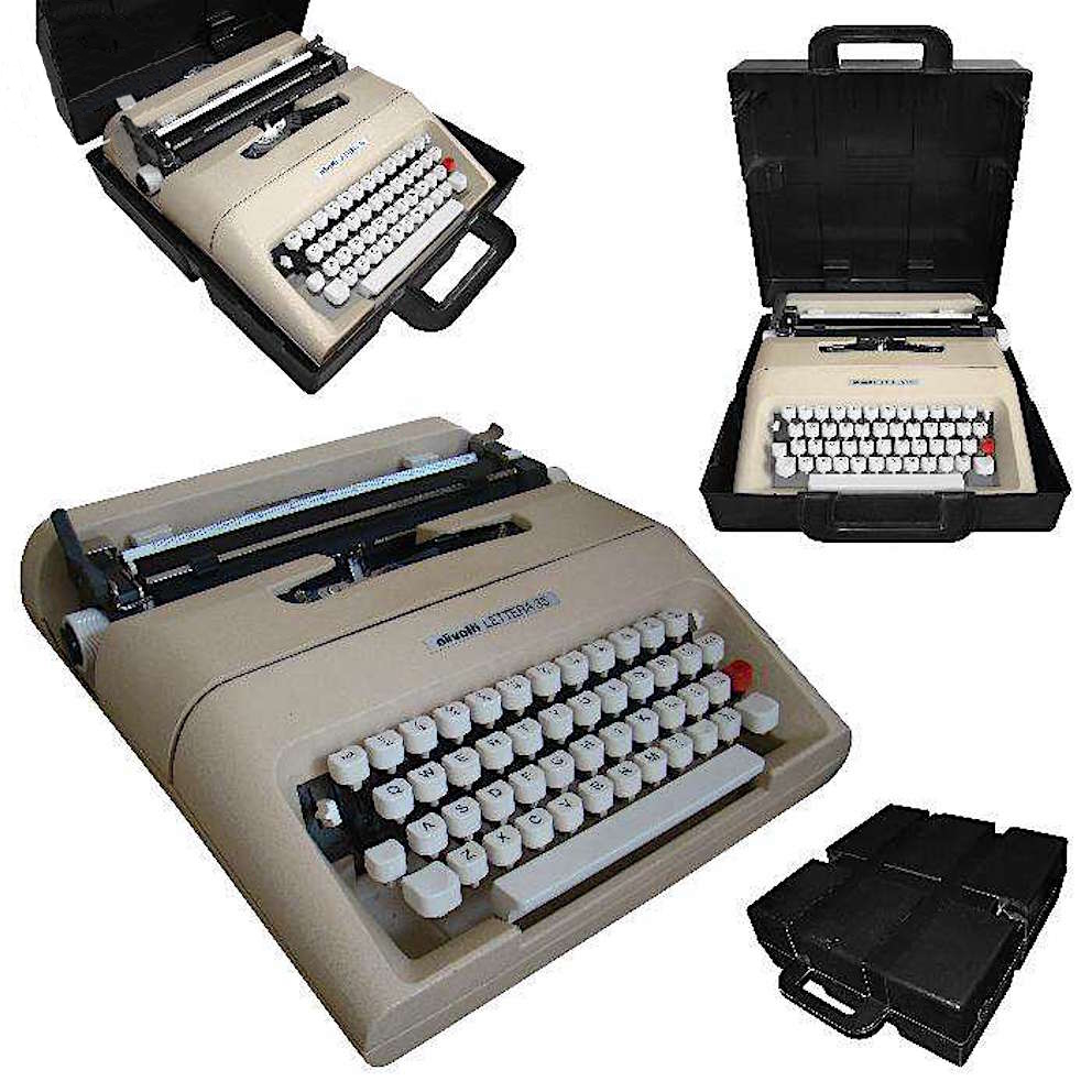 olivetti lettera 35 macchina scrivrere custodia