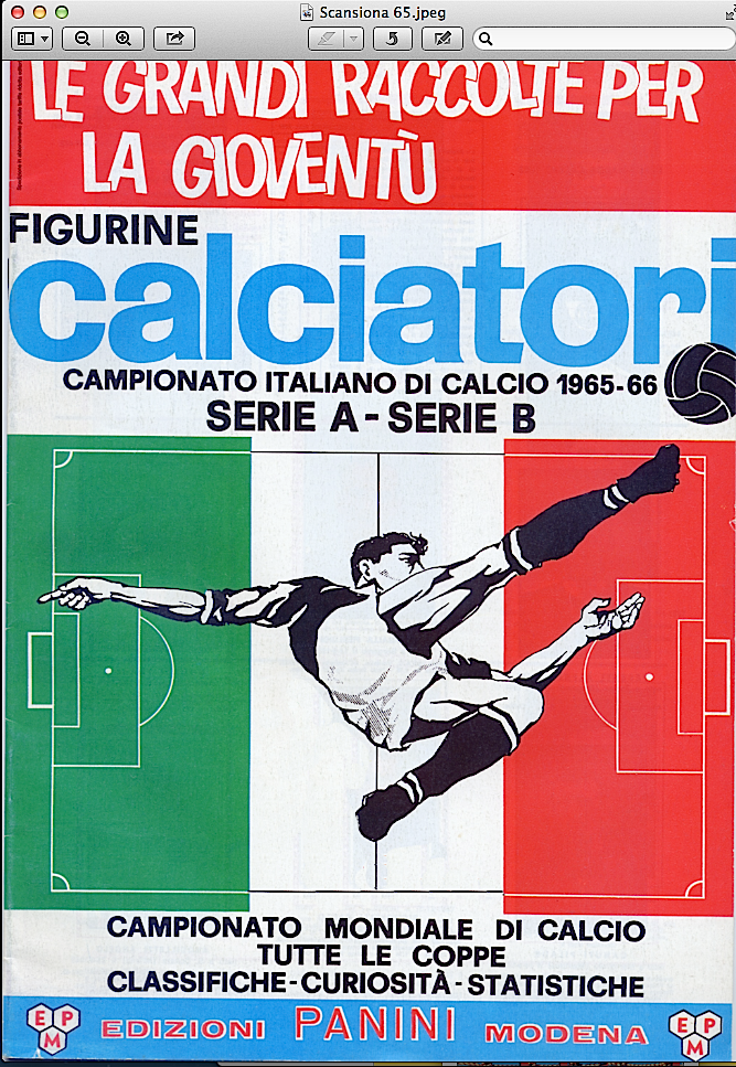 album calciatori panini 1965 1966