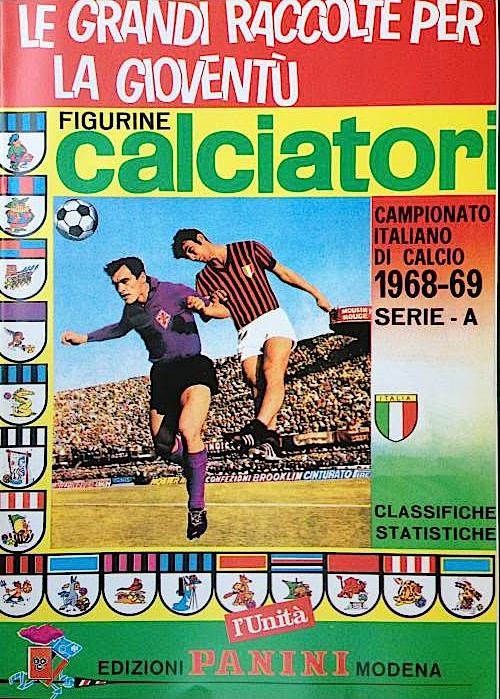 album calciatori panini 1968 1969