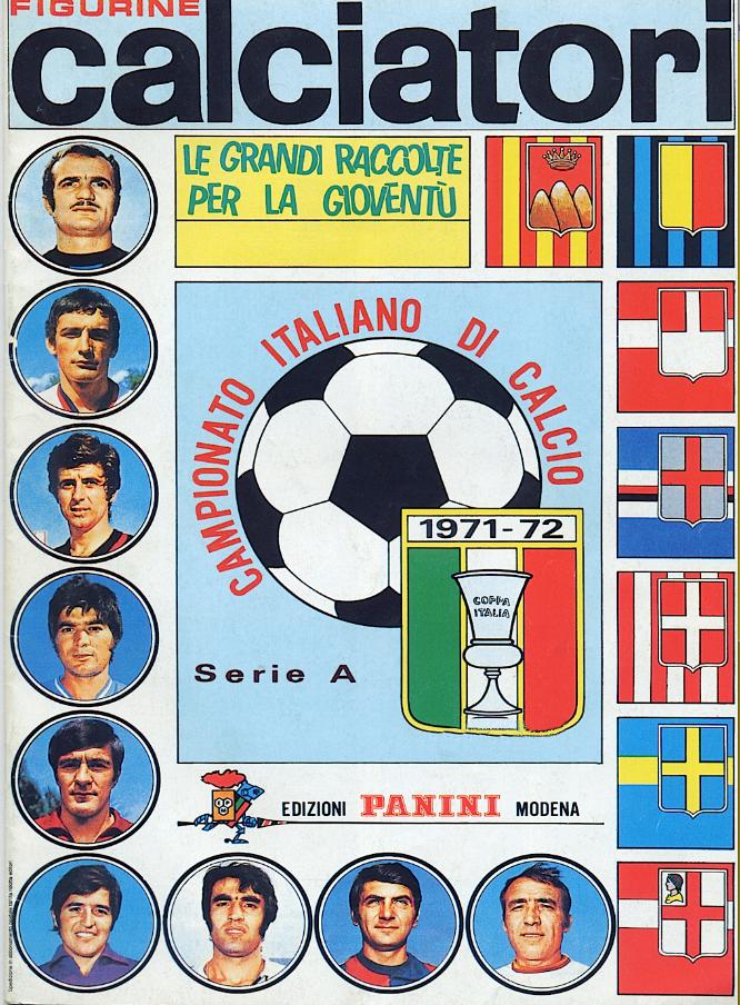 album calciatori panini 1971 1972