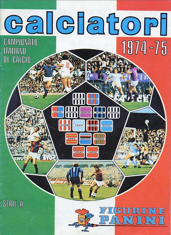album calciatori panini 1974 1975