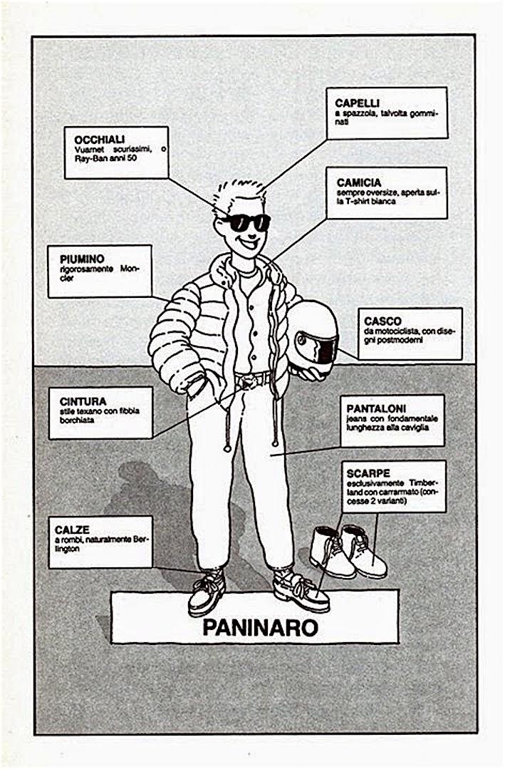 moda vestiti look paninari anni ottanta