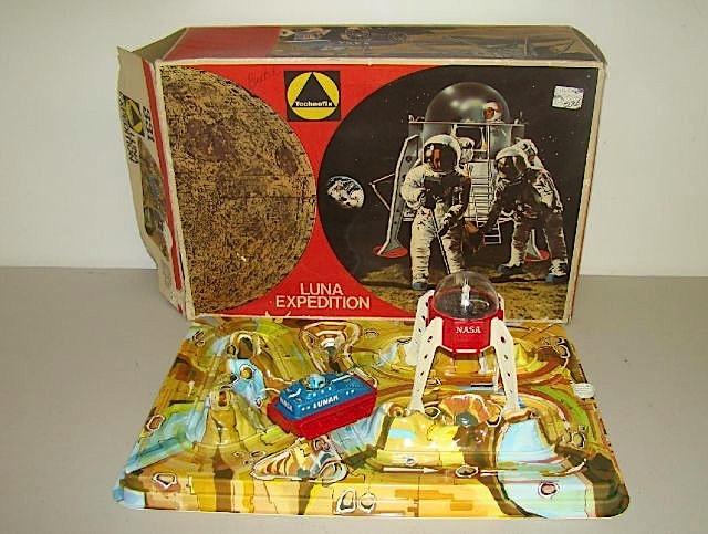 LUNA EXPEDITION 331,GIOCO SPAZIALE CON MODULO LUNARE,ORIGINALE ANNI '70 MADE IN WEST GERMANY,PRODOTTO DALLA TECHNOFIX