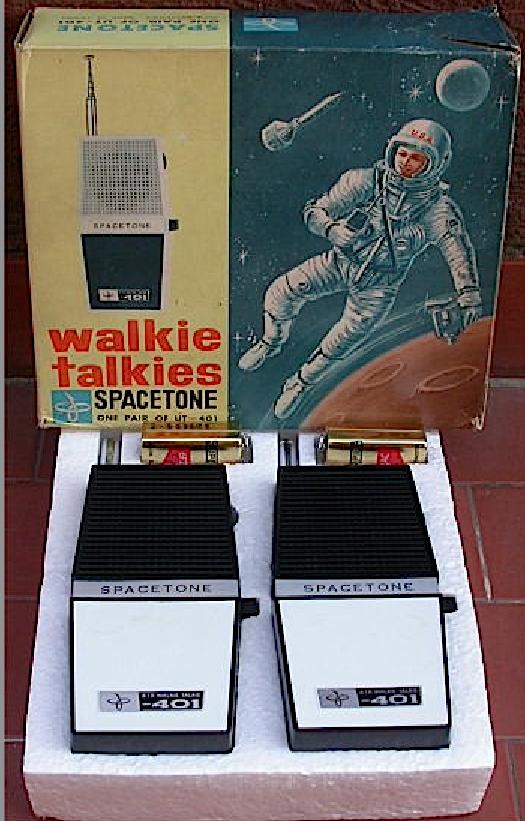 WALKIE-TALKIE_SPACETONE_GIOCATTOLO_VINTAGE_CON_SCATOLA