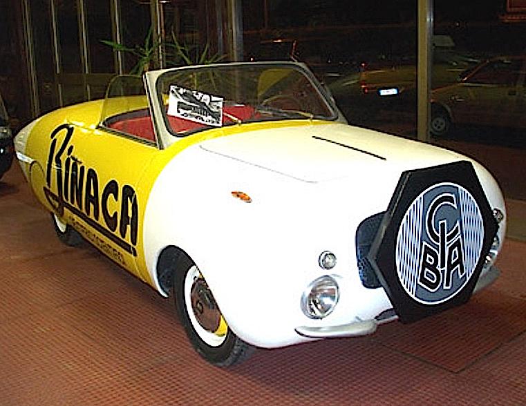 Fiat Binaca 1100 pubblicitario Boneschi giro di Italia 1951