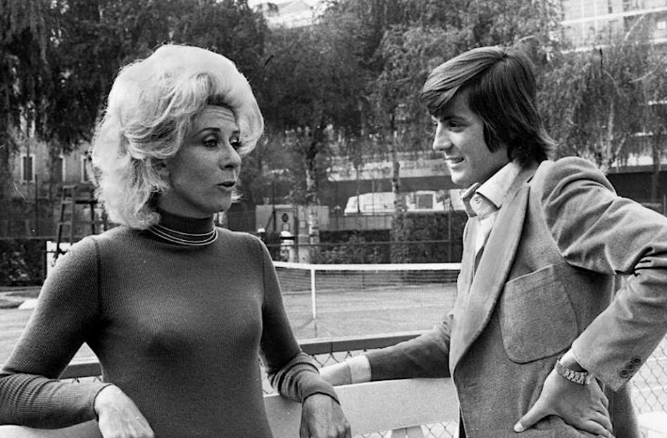 Lea Pericoli con Adriano Panatta primi anni '70 (Oliviero Zanni)