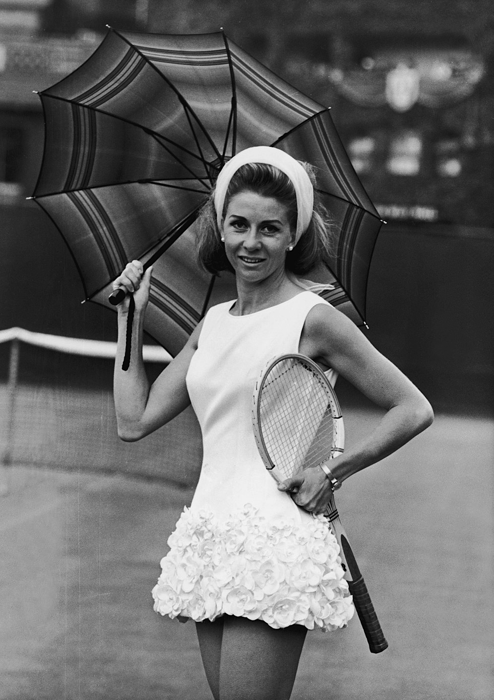 Lea Pericoli - Wimbledon 1965 - (Photo by Keystone/Getty Images)