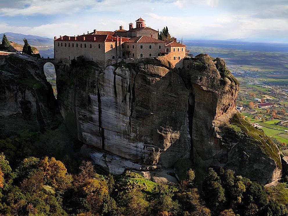 Grecia Monastero Aghia Triada nella regione di Meteora