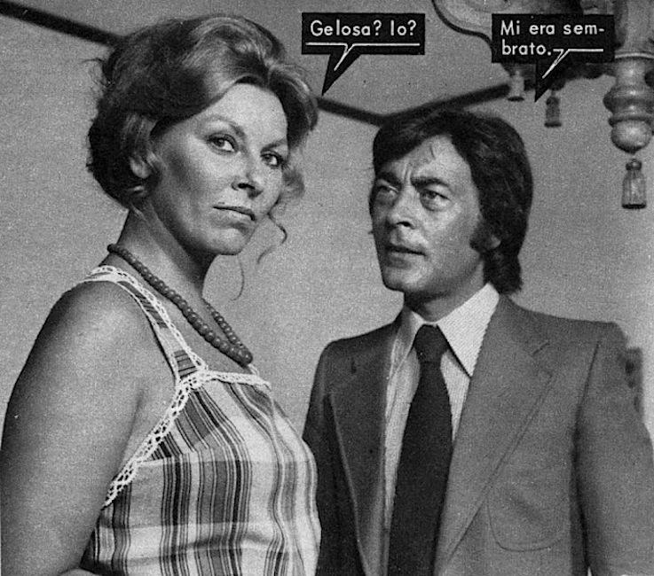 Loredana Nusciak con Gianni Medici attori anni 70,