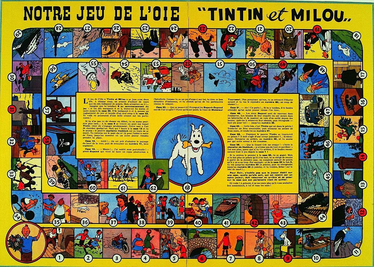 Il Gioco dell'oca versione Tintin